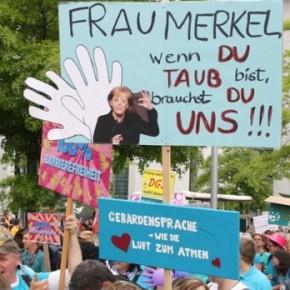 В Германии прошел митинг против дискриминации глухих