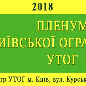 ПЛЕНУМ КИЇВСЬКОЇ ОГРАНІЗАЦІЇ УТОГ  5 квітня 2018 р