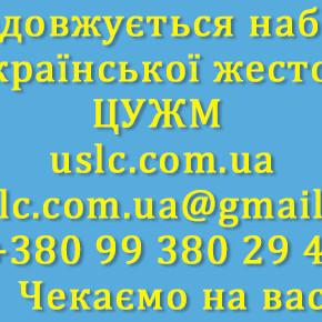 Продовжується набір  у Школу української жестової мови/