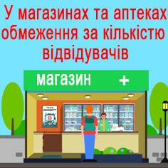 У магазинах та аптеках вводять обмеження за кількістю відвідувачів: у приміщеннях має перебувати один покупець на 10 кв. м